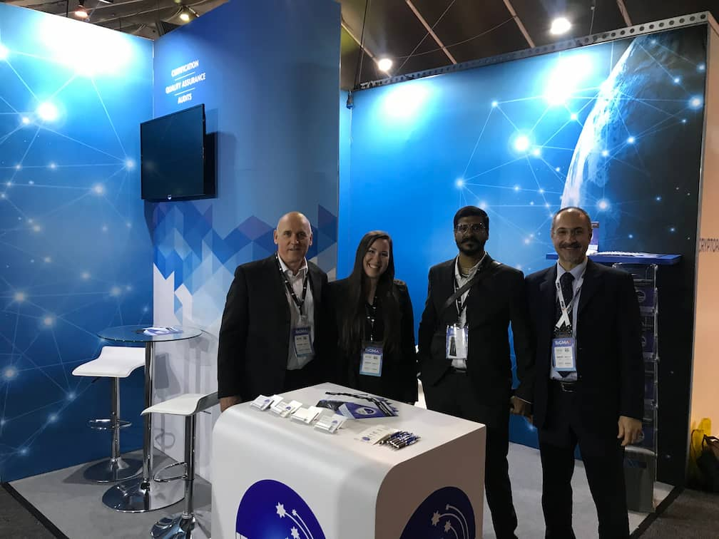 iTech Labs staff at stand at SiGMA
